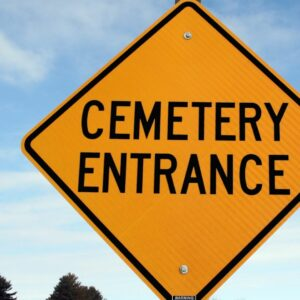 It is important to observe all all posted signs in a cemetery