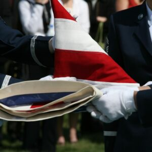 Per the Veterins Administration, only one burial flag is presented to a family for a fallen veteran or soldier